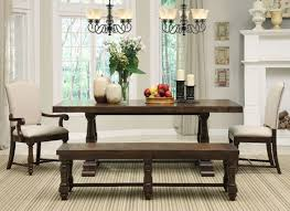 Tables With Bench Seating Furniture Awesome Rectangle Dining Table With Bench Design