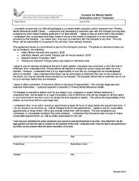 behavior contract template mental health forms fillable