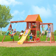 big backyard cedarbrook wood gym set toys