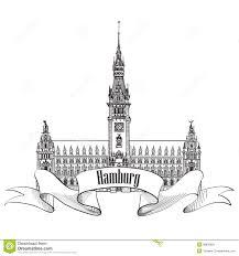 hamburg landmark germany germany sketch symbol royalty free