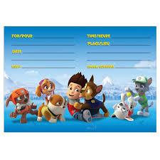 mario invitations amazon com paw patrol party invitations 8ct toys u0026 games