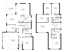 4 bedroom house blueprints storey 4 bedroom house designs perth apg homes also simple