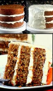 advanced version of carrot cake two layers cream cheese frosting
