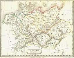germania map germany germania antiqua 1847 map