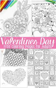 free valentines coloring pages adults easy peasy fun