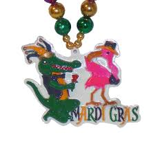 mardi gras alligator party flamingo with alligator mardi gras bead mardi gras party