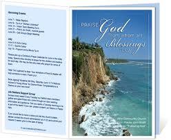 free printable church program template church program church