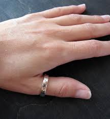 4mm ring thick sterling silver dapple hammered band 4mm thick forged silver