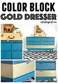 color block gold furniture the perfect gold color refunk my junk