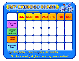 8 best images of daily exercise chart template daily exercise
