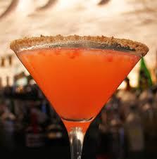 martini mistletoe chilled drink of the week strawberry cobbler martini