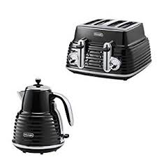 Black Kettle Toaster Set De U0027longhi Scultura Kettle Black High Gloss And 4 Slice Toaster