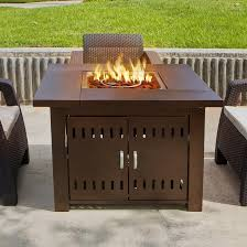 Patio Furniture With Gas Fire Pit by Belleze 40 000btu Outdoor Patio Propane Gas Fire Pit Table