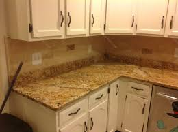 Pictures Of Kitchen Countertops And Backsplashes Mac S Before U0026 After Solarius Granite Countertop U0026 Backsplash