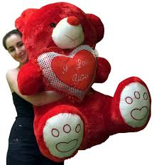big valentines day valentines day teddy soft with bigfoot paws holds i