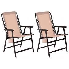 costway rakuten costway set of two folding outdoor arm chair