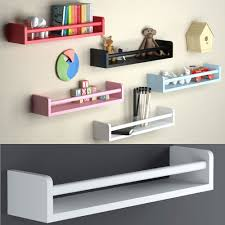 amazon com set of 2 nursery room wall shelf white wood baby