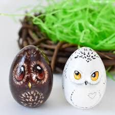 painted easter eggs owl easter eggs adventure in a box