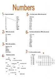 worksheet numbers 1 20 days and months