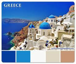 Blue Color Palette by European Destinations Color Palettes Bedrooms