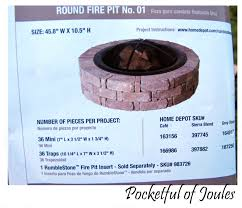 How To Make Firepit by Diy How To Build A Fancy Fire Pit Dads Round Table