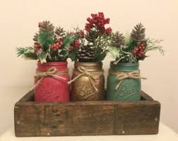 Christmas Tabletop Decoration by Holiday Table Decor Etsy