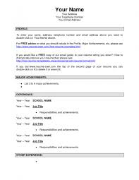 Download A Resume Template For Free How To Make A Resume Free Download Resume Template And