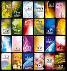 various style business card template vector set 03 vector card