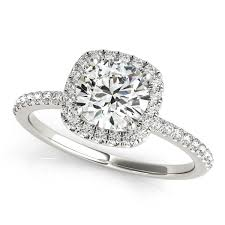 round square rings images 1 26 carat brilliant round diamond square solitaire halo jpg
