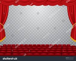 vector transparent empty stage red curtain stock vector 520244740
