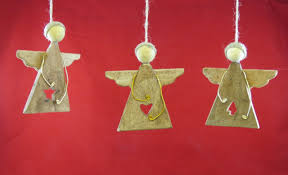 driftwood angel ornaments set of three w cutouts