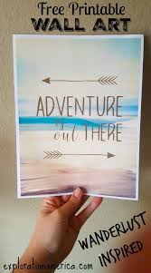 free printable art home decor printable travel wall art adventure is out there free printable