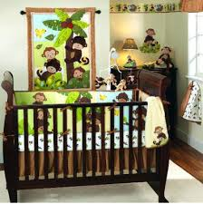 Jungle Themed Crib Bedding Jungle Themed Nursery Ideas Green And Brown Tropical Monkey Jungle