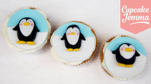 super cute christmas penguin cupcake toppers cupcake jemma