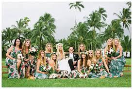 hawaiian themed wedding dresses 2016 wedding ideas totally tropical boho bridesmaid dresses