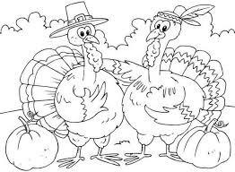 brown thanksgiving coloring page free printable for