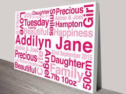 personalised quote gifts personalised canvas art prints custom word art australia