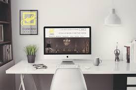 website design for interior design studio on behance