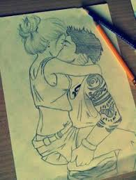 pictures cartoon pencil sketches of love couple drawing art