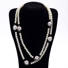 elegant black necklace images Long style latest popular new statement jewelry black white jpg