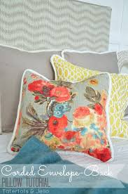 How To Make Sofa Pillow Covers How To Make Easy Envelope Back Pillow Covers With Cording