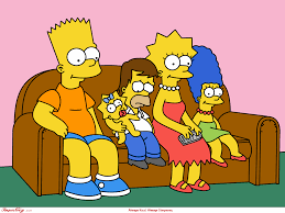 the simpsons the simpsons family couch wallpaper