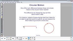circular motion period