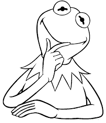 kermit the frog funny sesame street coloring pages pinterest