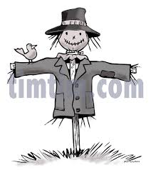 free drawing of a scarecrow gray from the category farm animals
