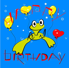 birthday card with frog stock vector image of color 12448431
