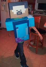 Minecraft Herobrine Halloween Costume Finished Minecraft Steve Herobrine Costume Sword Tnt