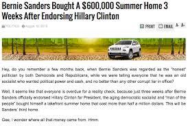 bernie sanders houses bernie sanders buys 600 000 summer home after endorsing clinton