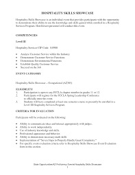 resume examples for hospitality resume for your job application