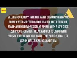 is valspar low voc paint youtube